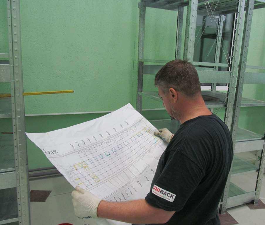 Сборка стеллажных систем. Юнирек. Екатеринбург
